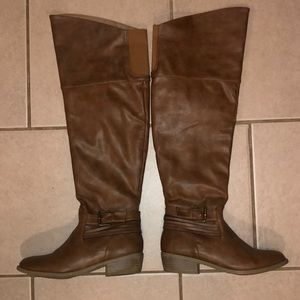 Charlotte Russe Brown Over The Knee Boots